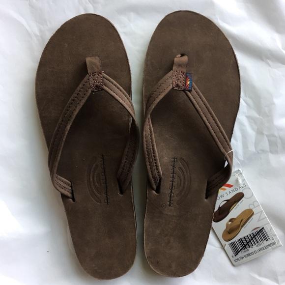 479761016 New Rainbow Flip Flops Soft Leather Thin Strap XL
